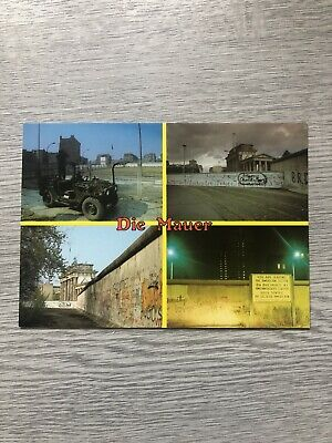 Postcard Berlin Wall New And Unposted • 2£