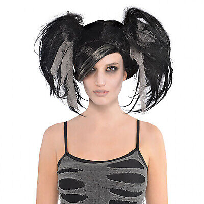Halloween Wig Women Zombie Bride Corpse Gothic Witch Scary Mummy Black Adult Day • 9.97£