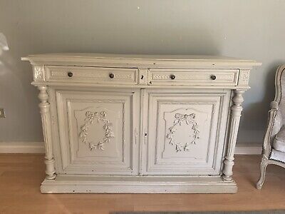 Shabby Chic French Antique Buffet Base Cupboard • 0.99£