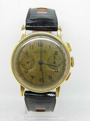 $ CDN8175.72 • Buy Watch Chronograph Longines Flyback Gold 18k Movement 13ZN Vintage Longines