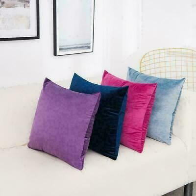 40x40cm Soft Velvet Cushion Cover Colorful Plain Pillowcase Home Bed Sofa Decors • 3.99£