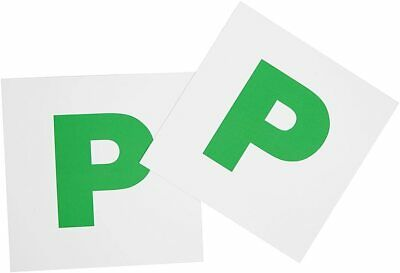 2x New Driver P Plate Stickers Safety Car Learner Just Passed Vinyl Signs • 1.49£