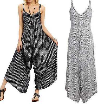 Womens Ladies Harem Jumpsuit Loose Casual Cami Strappy Playsuit Wide Leg Overall • 12.25£