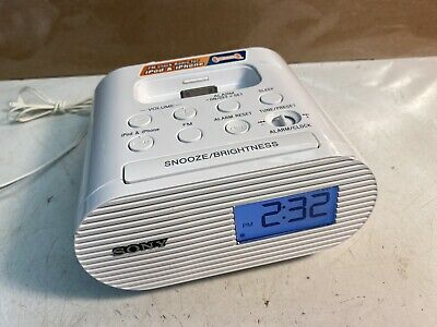 AU19.61 • Buy Sony ICF-C05IP 30 Pin IPhone IPod Clock Radio Alarm Speaker Dock White