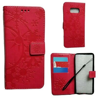 $ CDN6.67 • Buy Samsung Galaxy S8 Plus Hot Pink Pattern Wallet Case With Card Slots And Strap