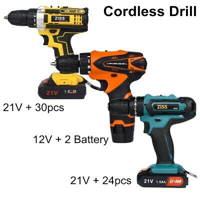 View Details Electric Cordless Drill 21V/12V Electric Drill Combo Set With Battery & Charger • 41.98$