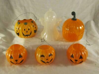 $ CDN14.65 • Buy Vintage Assorted Plastic Halloween Candy Containers Pumpkin JOL Ghost