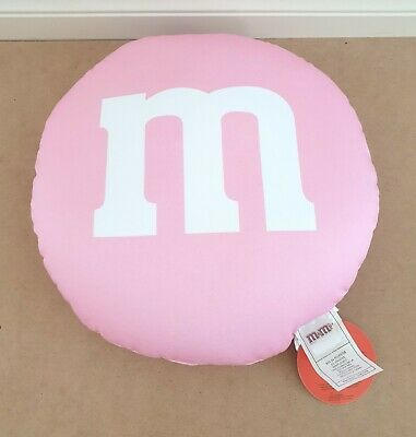 AU24.99 • Buy M & M's World – Pink M & M Microbeads Plush Cushion/Pillow New With Tags