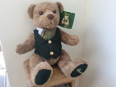 "Preowned - Harrods 14"" Rodney Bear With Tag • 15£"