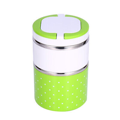 AU18.46 • Buy 2 Layer Stainless Steel Insulation Thermo Thermal Lunch Box Food Container Hot