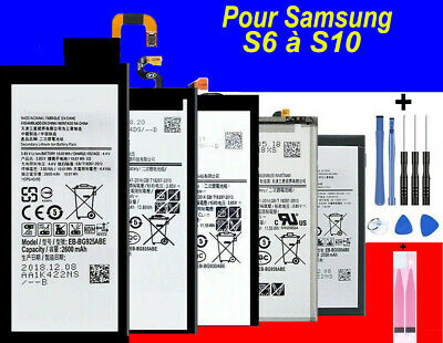 $ CDN13.53 • Buy BATTERIE Samsung Galaxy S6/S7/S8/S9/S10 Edge Plus 100% Neuve+ Kit Outils