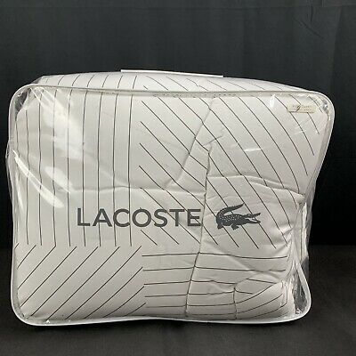 $ CDN170.90 • Buy Lacoste Doubles Collection Queen Full Guethary Comforter Set Stripe White 3Pc
