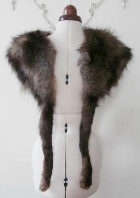 Vintage 1940's (Approx) Large Naturally Shaded Fox Fur Coat Collar/ Stole • 34.99£