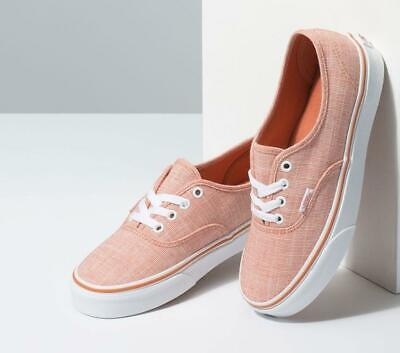 AU39.95 • Buy Vans Authentic Chambray Carnelian Pink Skate Shoes Sneakers Runners Brand New