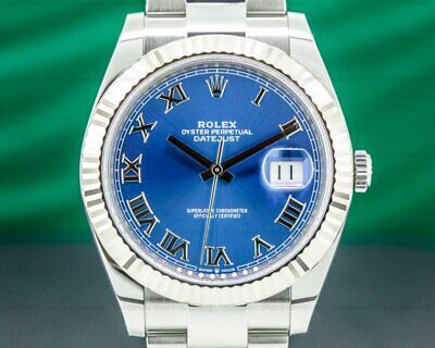 $ CDN14568.94 • Buy Rolex 126334 Datejust 41 Blue Roman Dial SS Oyster Bracelet WITH BOX AND PAPERS!