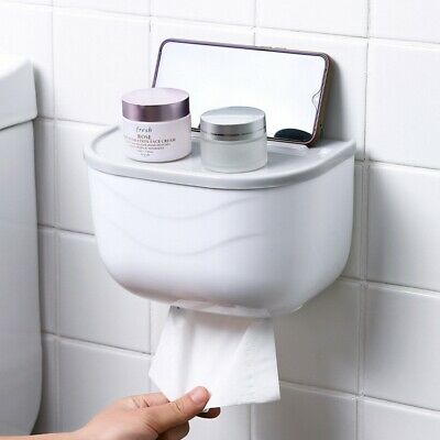 AU16.14 • Buy Waterproof Wall Mounted Tissue Box Dispenser Toilet Paper Holder Box Case Shelf