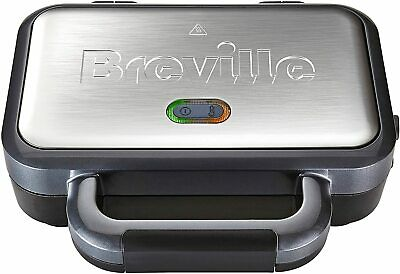 Breville Deep Fill Sandwich Toaster And Toastie Maker - Stainless Steel • 33.69£
