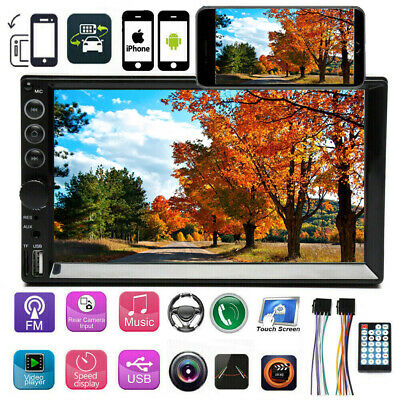 $77.99 • Buy Double Din Indash Stereo Radio Bluetooth Touch Mirror Link For Map Navigation 7