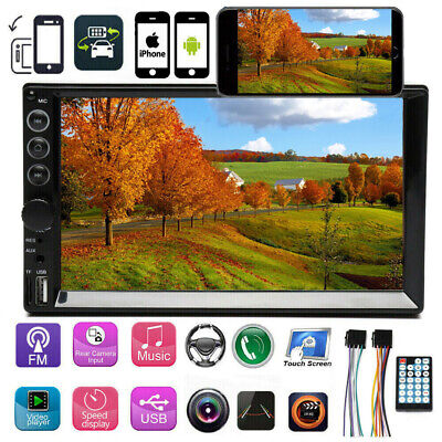 $77.99 • Buy Mirror Link For GPS Double Din Car Stereo Bluetooth Touch Screen FM HD Radio AUX