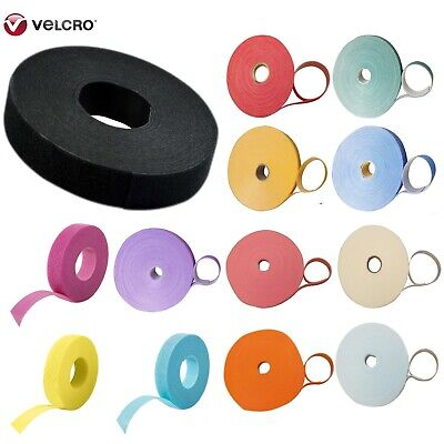 Velcro One Wrap Hook & Loop Double Sided Strapping 10 Differnt Colours X 1metre • 3.49£