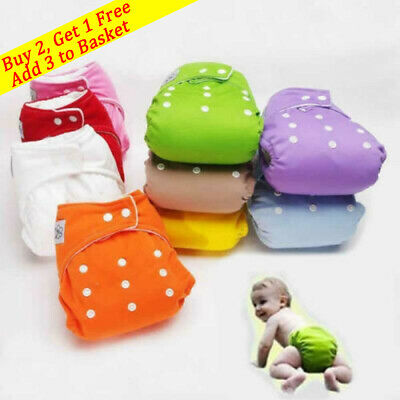 View Details Reusable Baby Infant Nappy Cloth Diapers Soft Covers Washable Size Adjustable • 4.28£