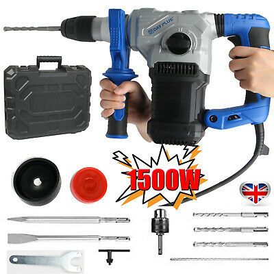 1500W Rotary Hammer Drill SDS Plus With 4 Functions For Concrete Steel Wood UK • 68.99£