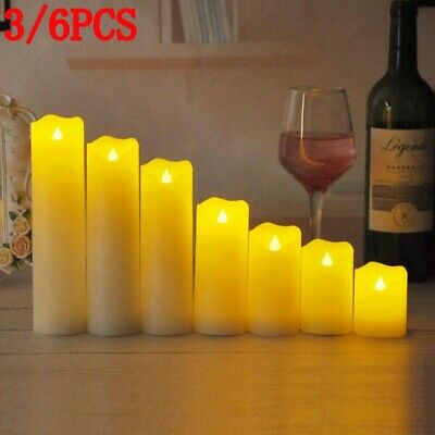3-6 PCS Flameless Candles LED Battery Power Flickering Wax Tea Lights Lamp New • 7.88£