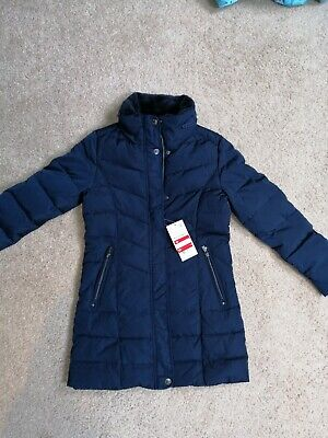 Girls NAVY SCHOOL WINTER COAT DOWN FILLED BNWT AGE 12 YEARS 152 • 17.50£