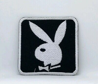 £1.79 • Buy Playboy Bunny Black & White Embroidered Iron Sew On Patch Badge Logo