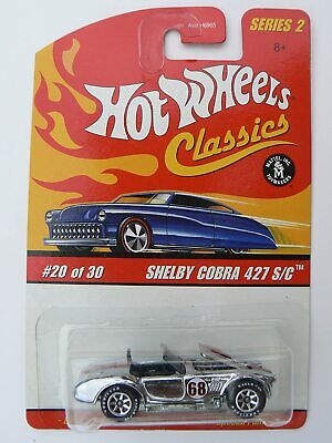 $19.99 • Buy Hot Wheels Classics Series 2  #20 Shelby Cobra 427 S/C - Silver