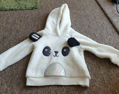 NEW Blue Zoo Panda Face Fleece Hoodie Age 18-24 Months • 3.72£
