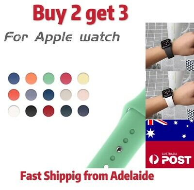 AU6.99 • Buy For Apple Watch IWatch Band Series 5 4 3 2 1 Sports Silicone Bracelet Strap Band