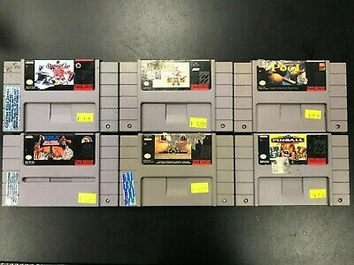 $ CDN7.90 • Buy SNES Six Game Lot As Is Untested Super Nintendo Authentic