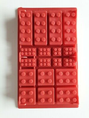 Lego Silicone Baking Mould Ice Cube Tray Chocolate Sugar Craft Building Bricks • 2.49£