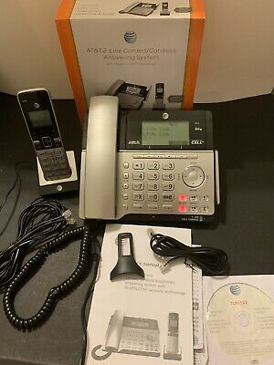 $ CDN92.26 • Buy AT&T TL86103 DECT 6.0 Cordless Phone Base 2-LINE CONNECT 2 CELL Bluetooth