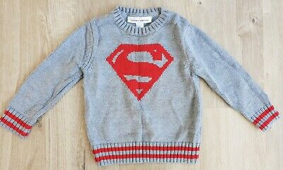 Boys Superman Jumper Grey Red Baby GAP 3 Years Excellent Condition!! • 5.99£