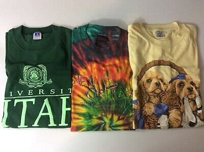 $ CDN65.90 • Buy Lot Of 15 Vintage T-Shirt Various Sizes Conditions