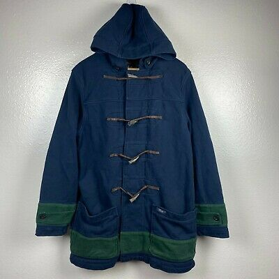 $199.99 • Buy Ralph Lauren Rugby Men's Hooded Duffle Toggle Coat In Navy Blue Size LARGE