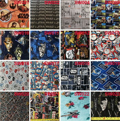 AU5.50 • Buy Print Fabric, Quilt Fabric, Fat Quarter, 100% Cotton(Star Wars Collection)