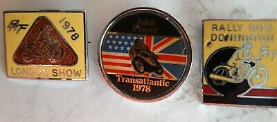 Vintage Motorcycle Pin Badges • 10£