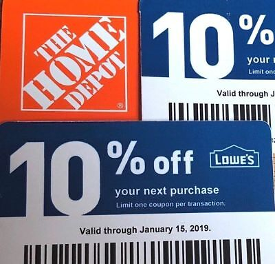 $10.40 • Buy Twenty (20) LOWES Coupons 10% OFF At Competitors NotLowes_Exp AUGUST 15 2021