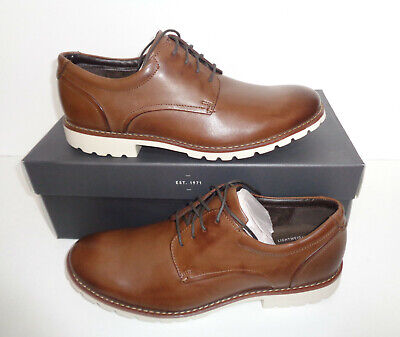 Rockport Mens Brown Premium Leather Lace Up Formal Shoes RRP £99.99 New Size 10 • 47.48£