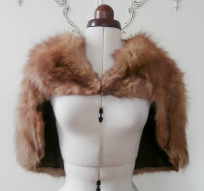 Vintage 1940's (Approx) Naturally Shaded Fox Fur Evening Stole, Shrug, Capelet • 34.99£