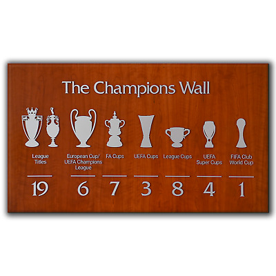 Liverpool FC The Champions Wall 2020 Anfield | Canvas Print Wall Art | 5 Sizes • 26.97£