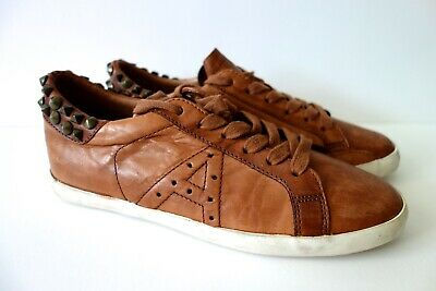 ASH Leather Trainers Designer Fashion Trainers With Studs Size 37 • 30£