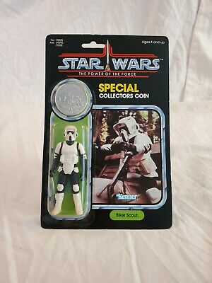 $ CDN474.55 • Buy Vintage - Star Wars Biker Scout - Power Of The Force - MOC - Very Rare!