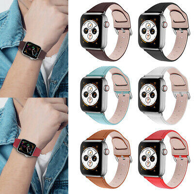 For IWatch Watch Series 5/43/2/1 Genuine Leather Band Strap Replacement • 7.24£