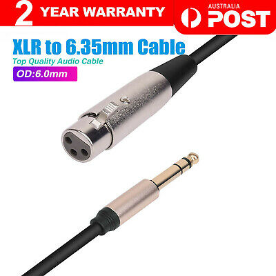 AU12.80 • Buy XLR Female To 6.35mm 1/4 '' Male Microphone Stereo Audio Cable TRS Jack Lead/Mic