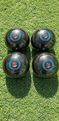 Set Of 4 Almark Clubmaster Lawn Bowls, Size 3 • 29.99£