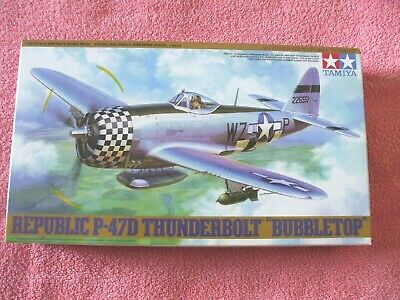 Tamiya - Republic P-47D - Thunderbolt  Bubble-top  - 1/48th Scale - Brand New • 14£